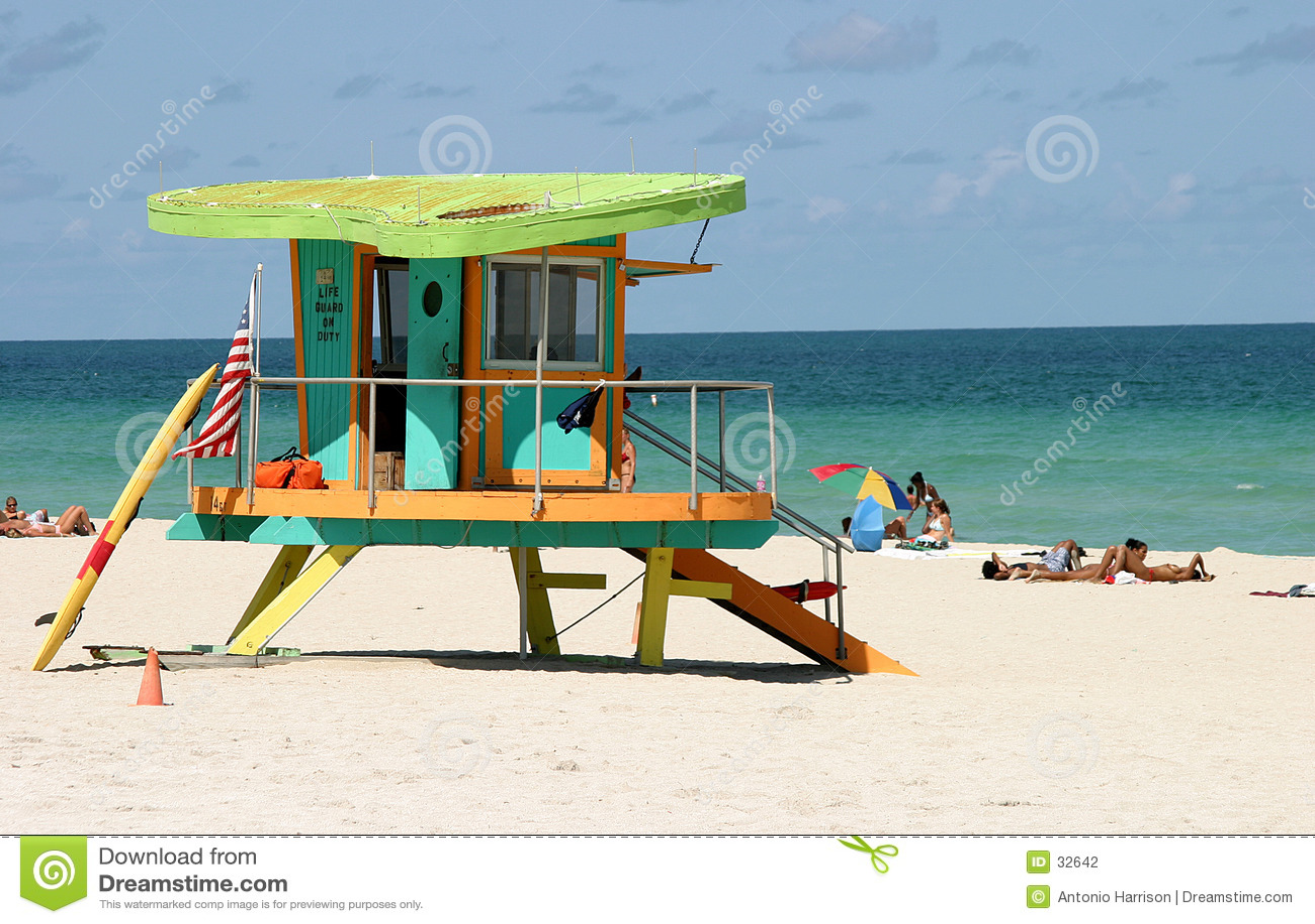 Download Choza del protector foto de archivo. Imagen de relaje, playa - 32642