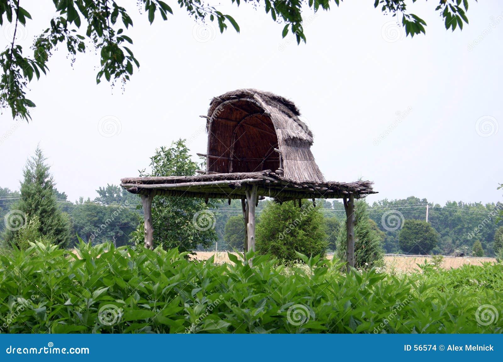 Choza india del entierro