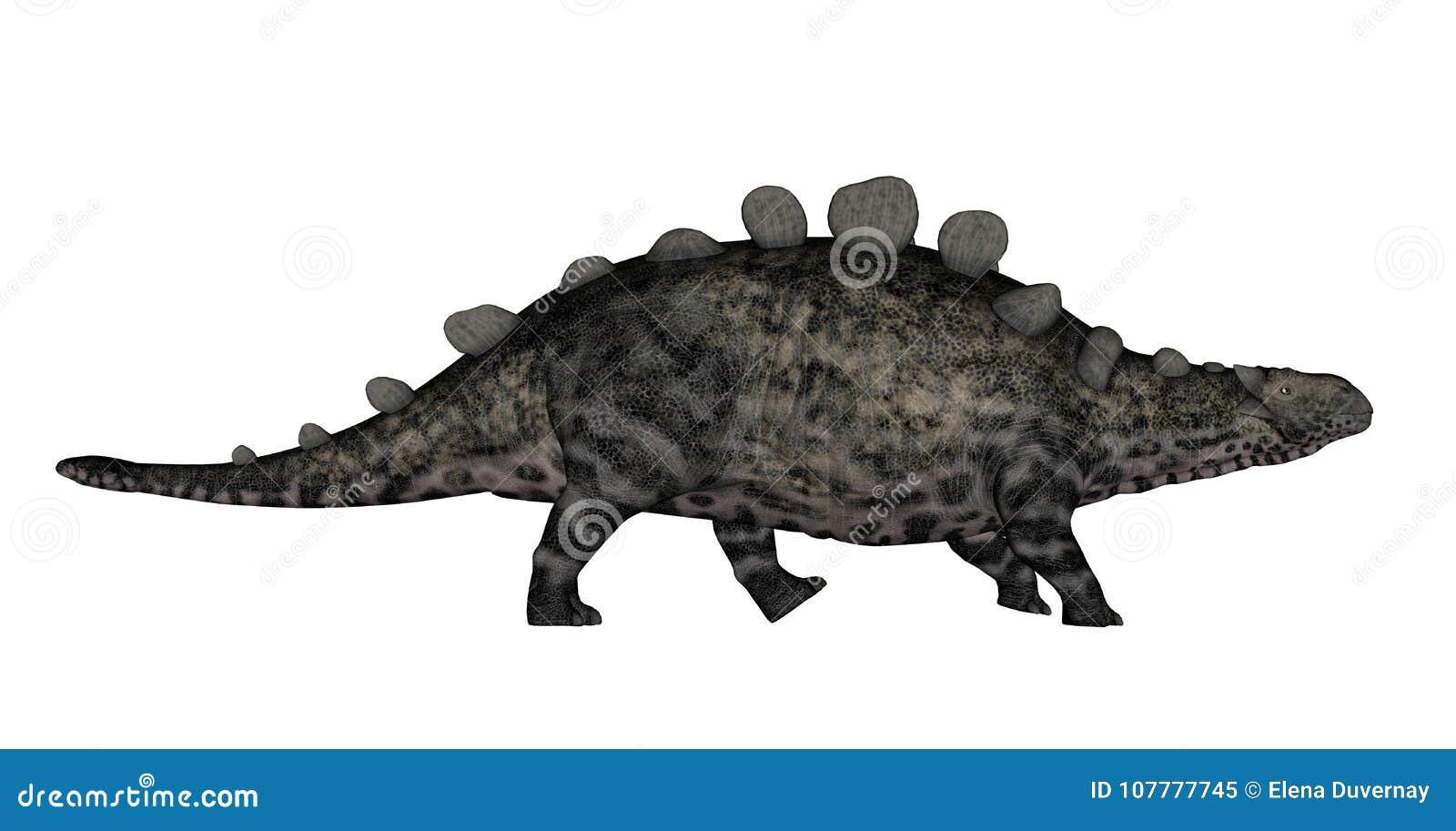 Chrichtonsaurus dinosaur walking - 3D render