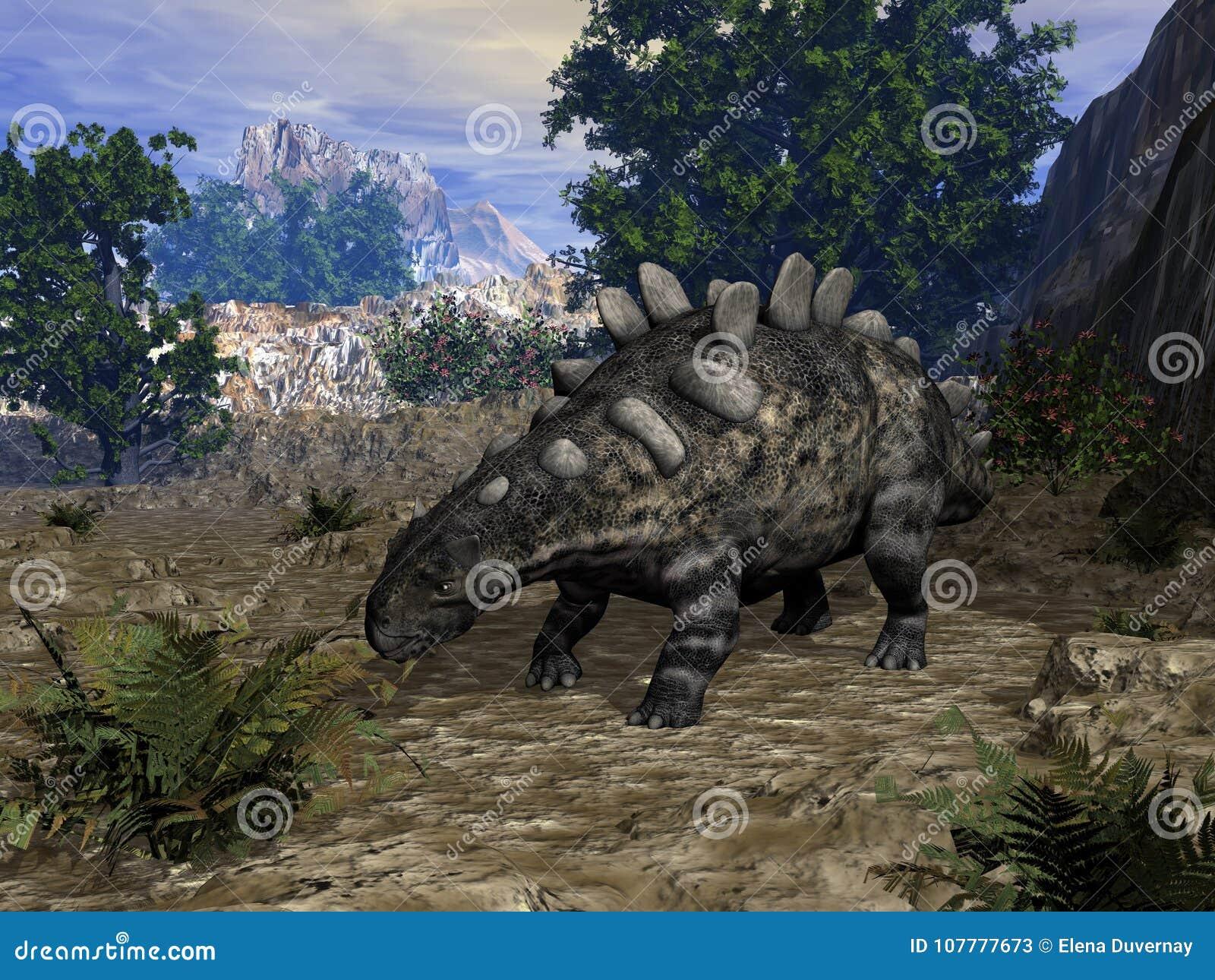 Chrichtonsaurus dinosaurie - 3D framför