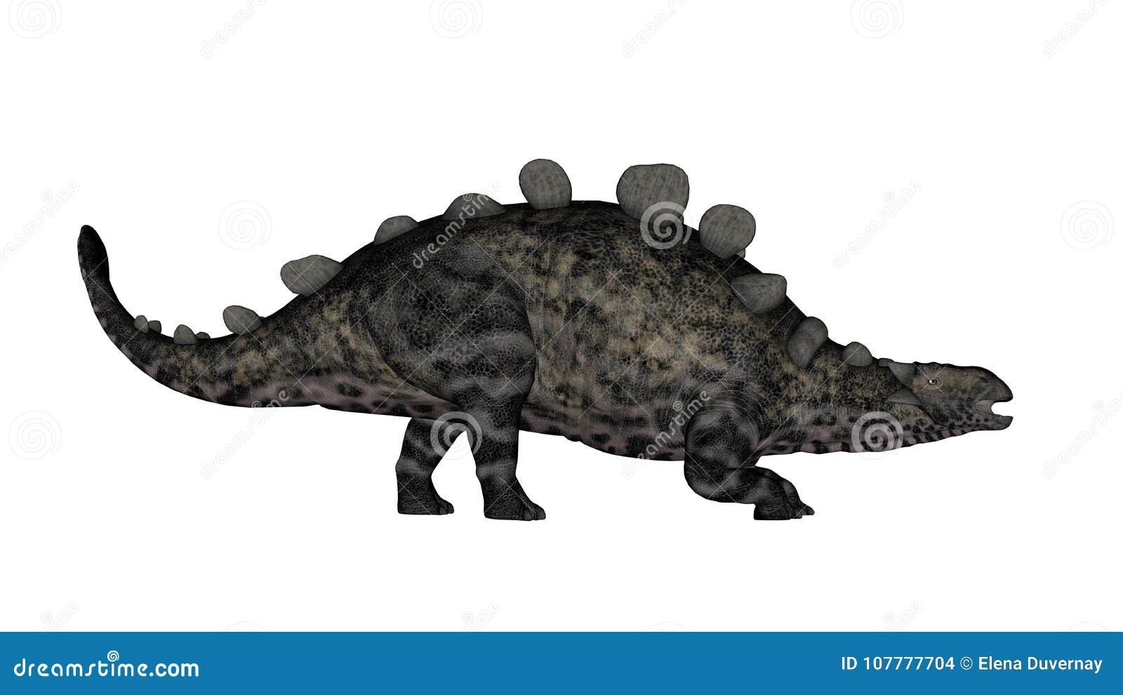 Chrichtonsaurus dinosaurie som går - 3D framför