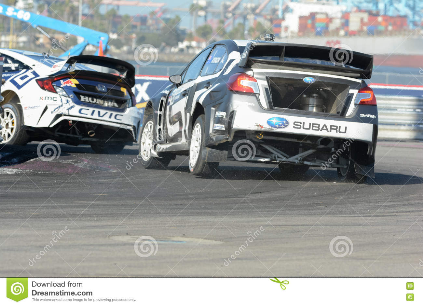 Chris Atkinson 55 Drives A Subaru Wrx Sti Car During The Red B
