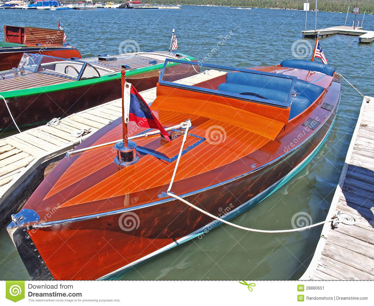 Chris craft speed boat stock image image of recreational for Chris craft boat restoration