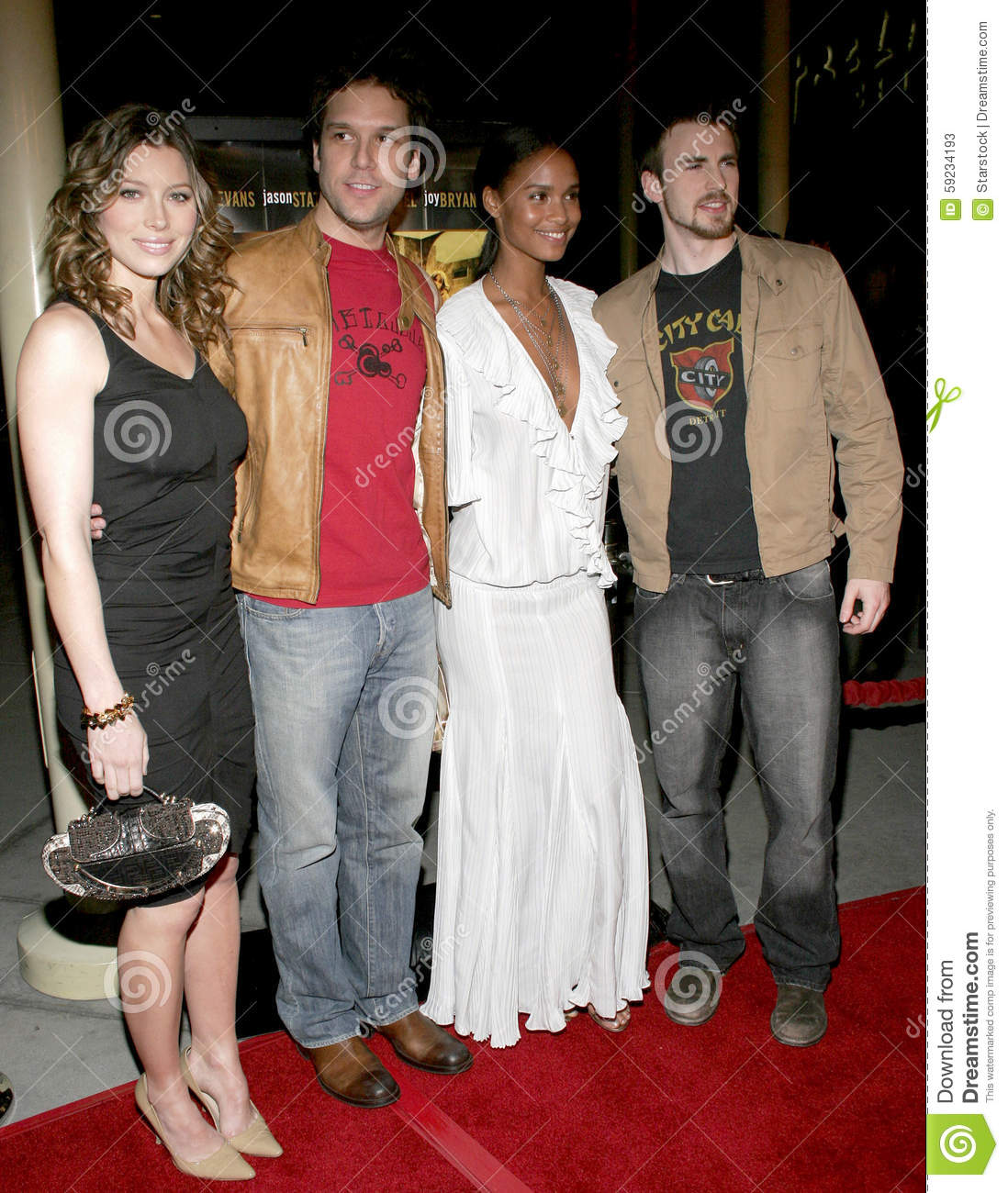 Download Chris Evans, Dane Cook, Jessica Biel Y Joy Bryant Foto de archivo editorial - Imagen de éxito, hollywood: 59234193
