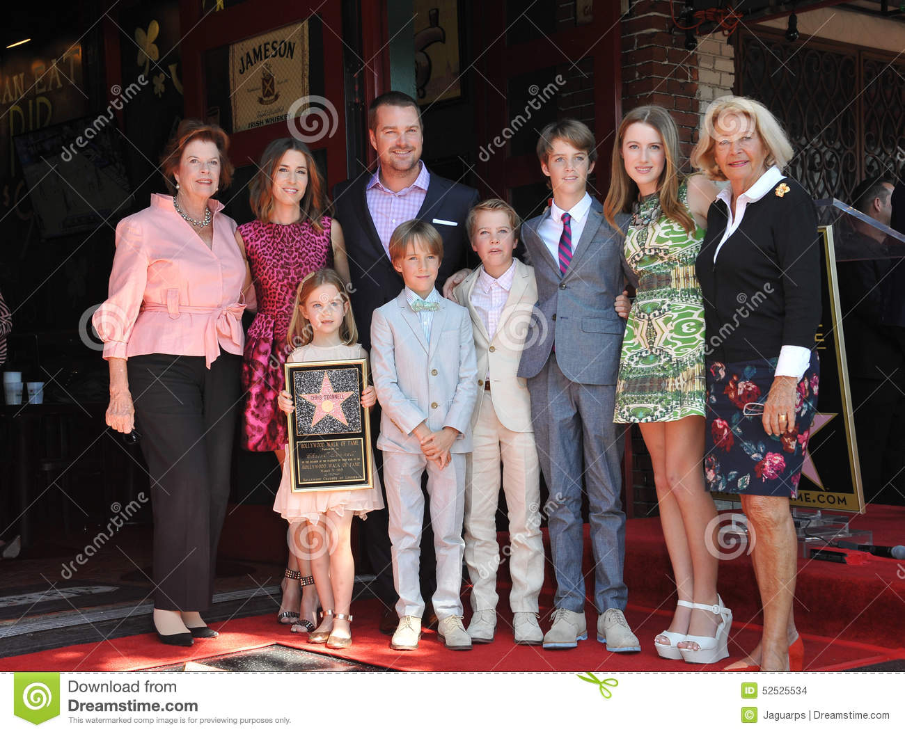 Chris O'Donnell & Family Editorial Stock Image - Image: 52525534