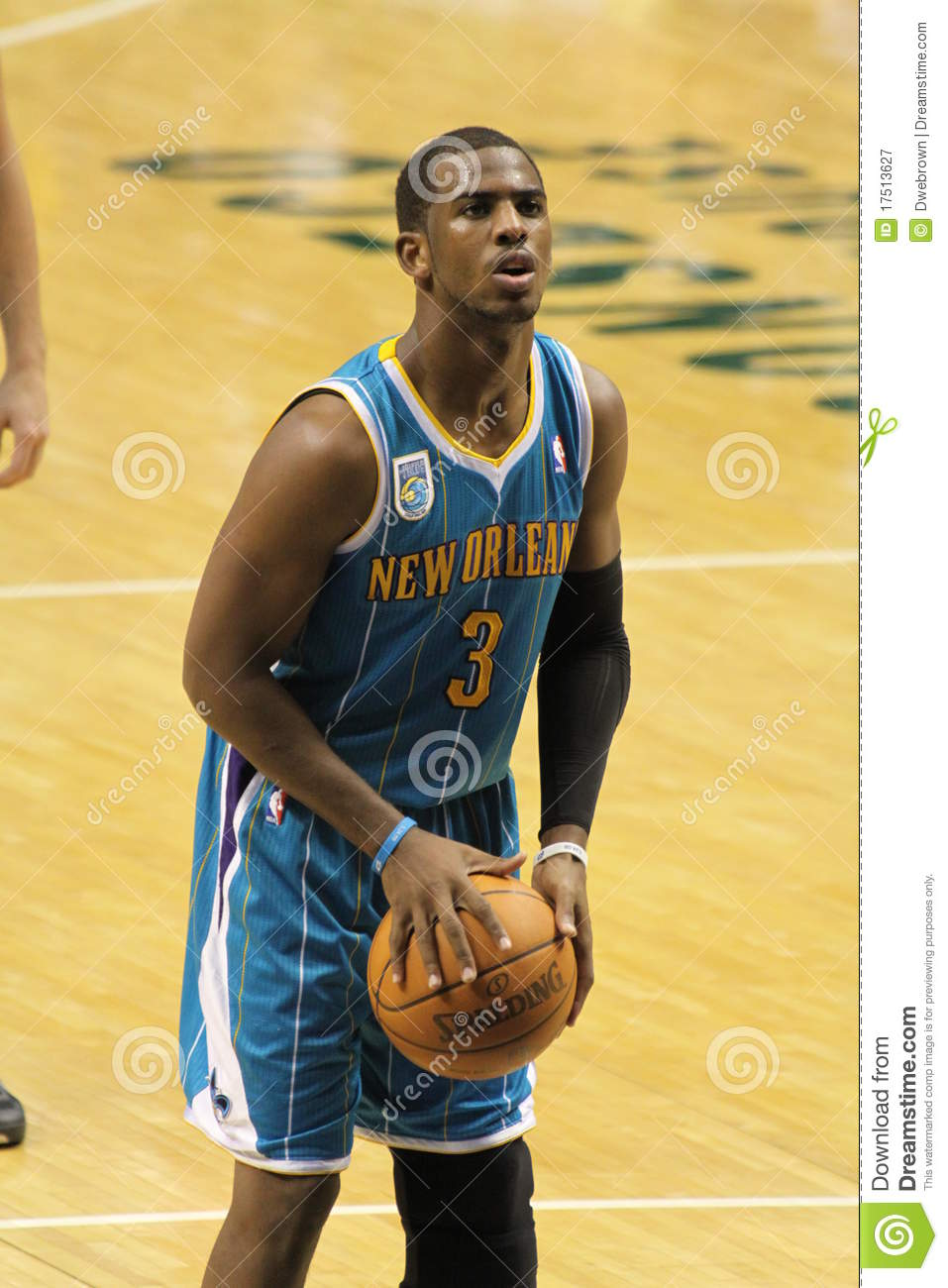 Chris Paul New Orleans Hornets Free-throw Editorial ...