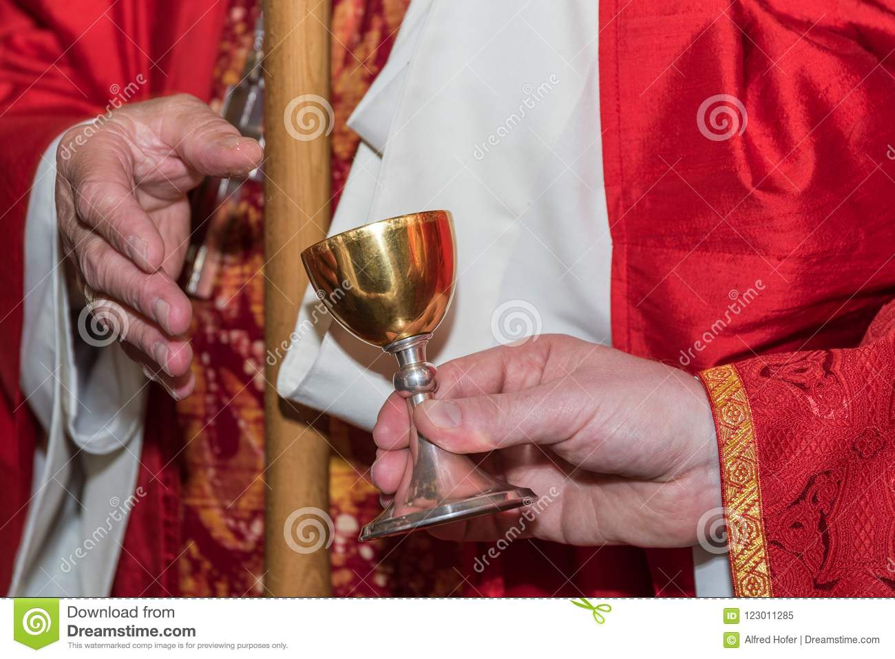 Chrisam Used In The Church - Close-up Stock Image - Image of
