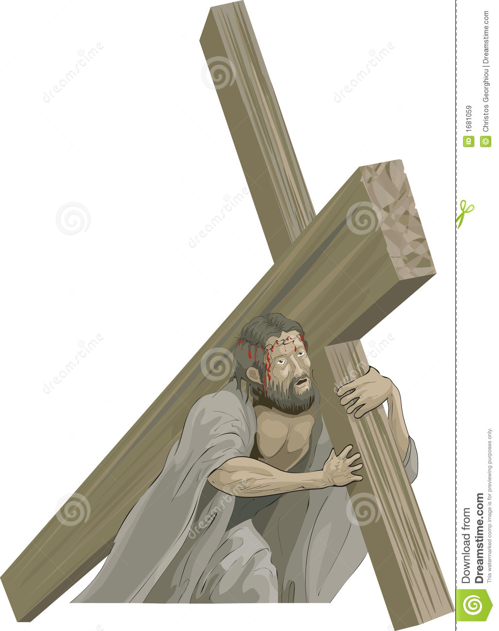 Christ Bearing The Cross Royalty Free Stock Images Image 1681059