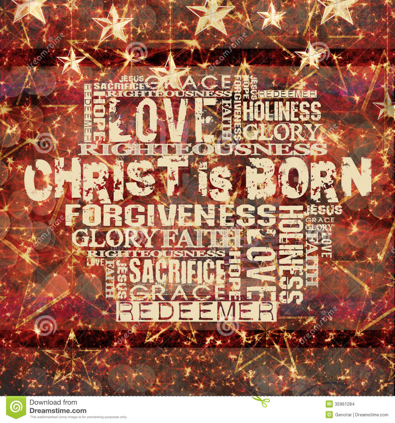 Christ Is Born Christmas Background Stock Illustration