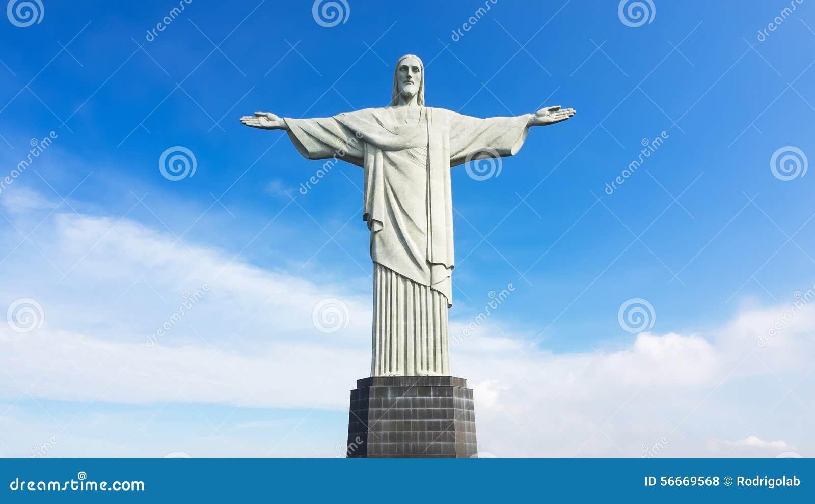 Christ the Redeemer Statue in Rio de Janeiro, Brazil Editorial Stock ...