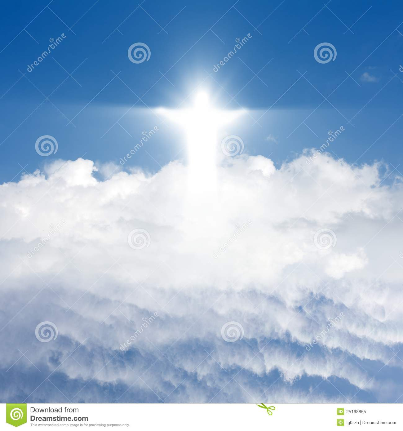 Christ In Sky Royalty Free Stock Photo - Image: 25198855