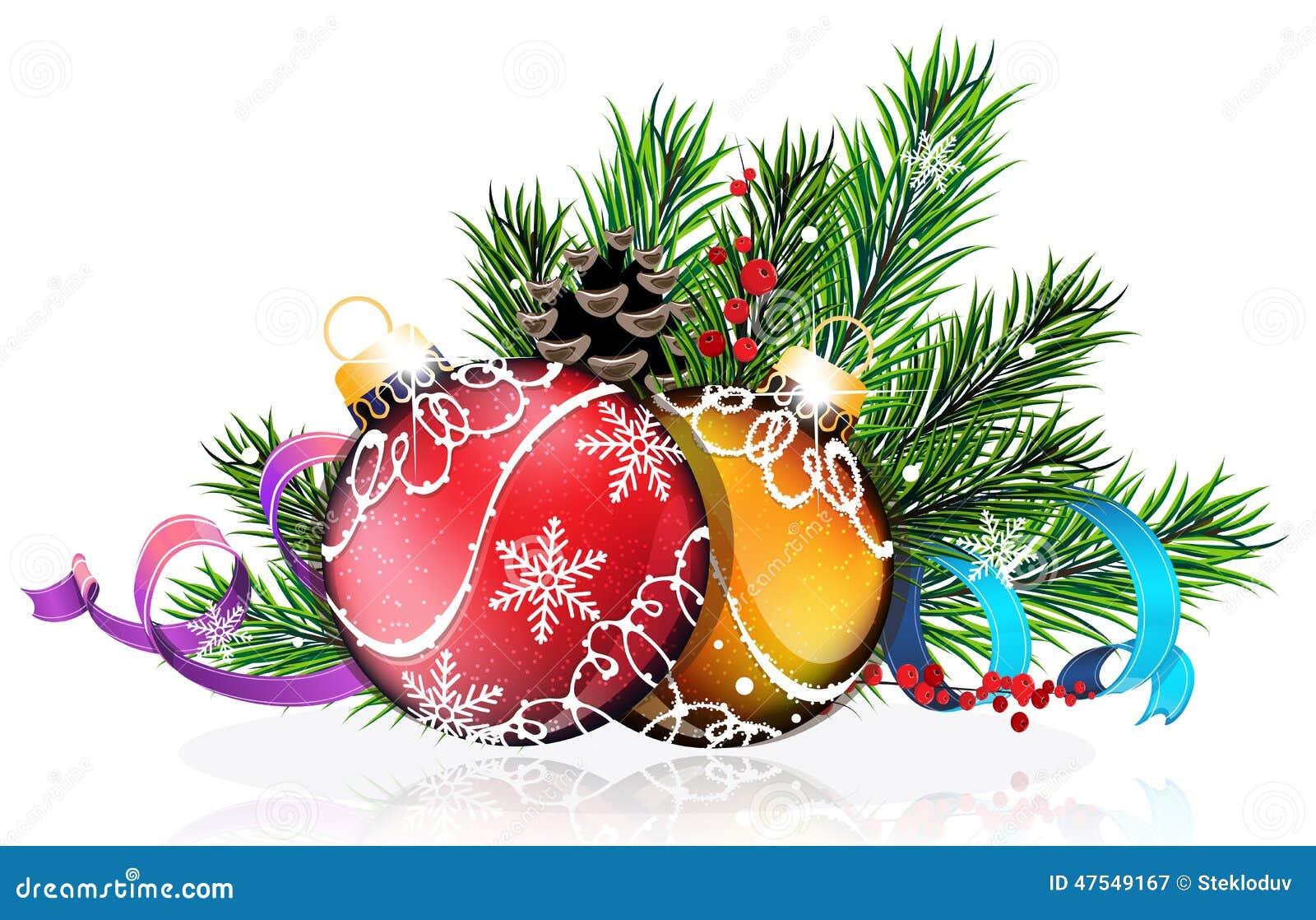 Christbaumkugeln mit den blauen und purpurroten b ndern vektor abbildung bild 47549167 - Blaue christbaumkugeln ...