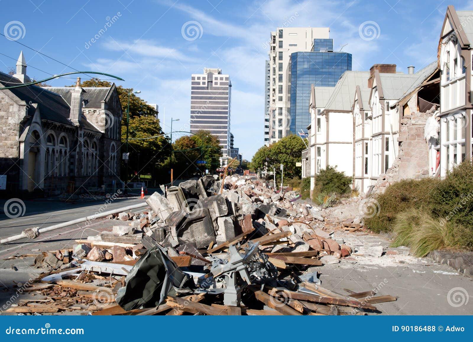 Christchurch Erdbeben 2011 Neuseeland Stockfoto Bild Von Neuseeland Erdbeben 90186488