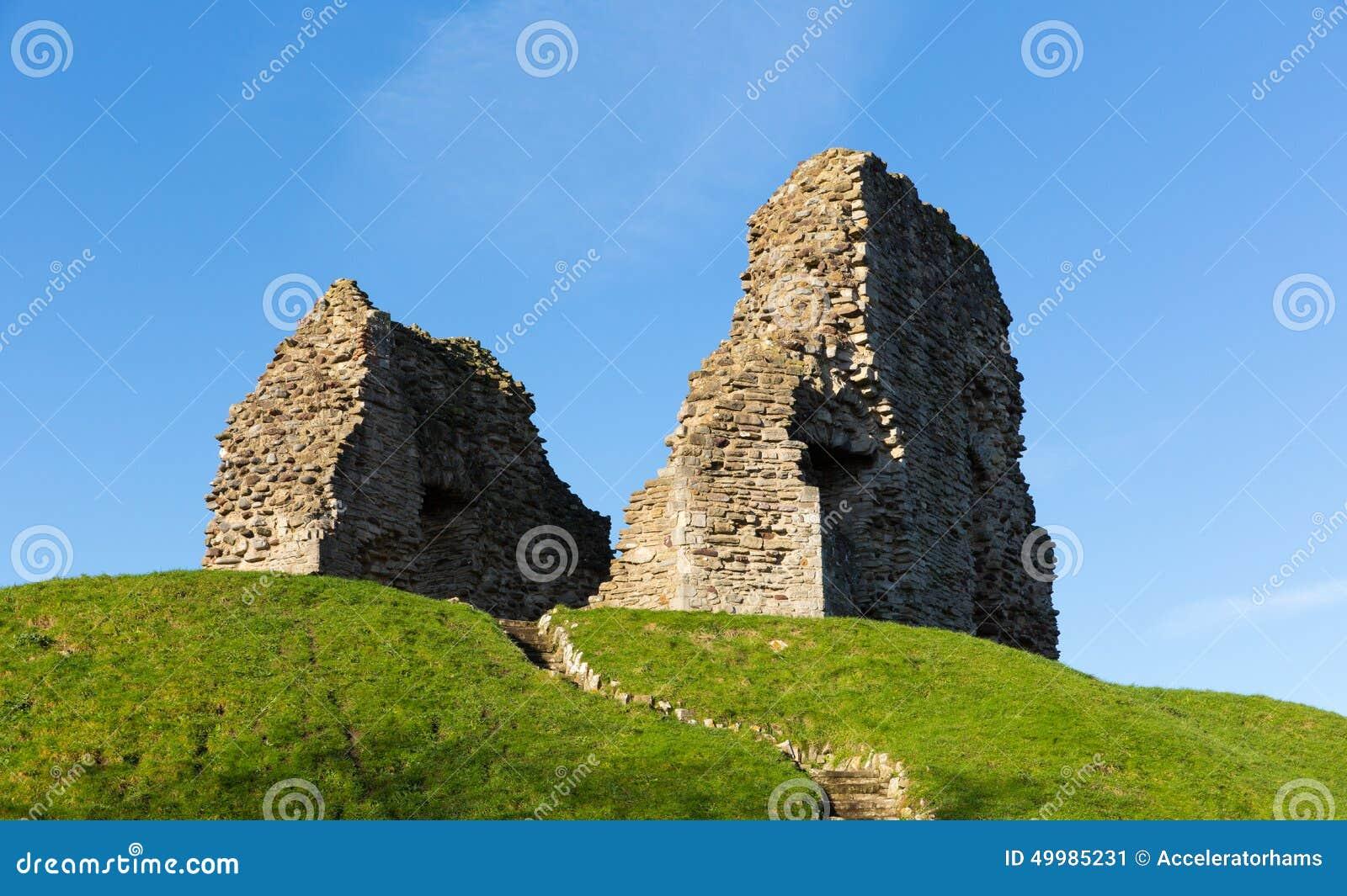 Christchurch kasztel rujnuje Dorset Anglia UK Anglonormański początek