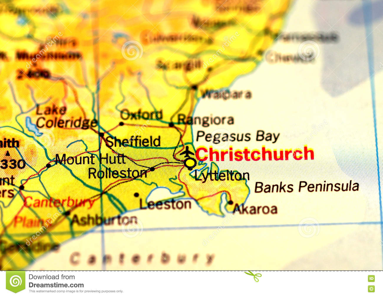 New Zealand Christchurch Map.Christchurch Map Stock Photo Image Of Zealand Cold 74874016