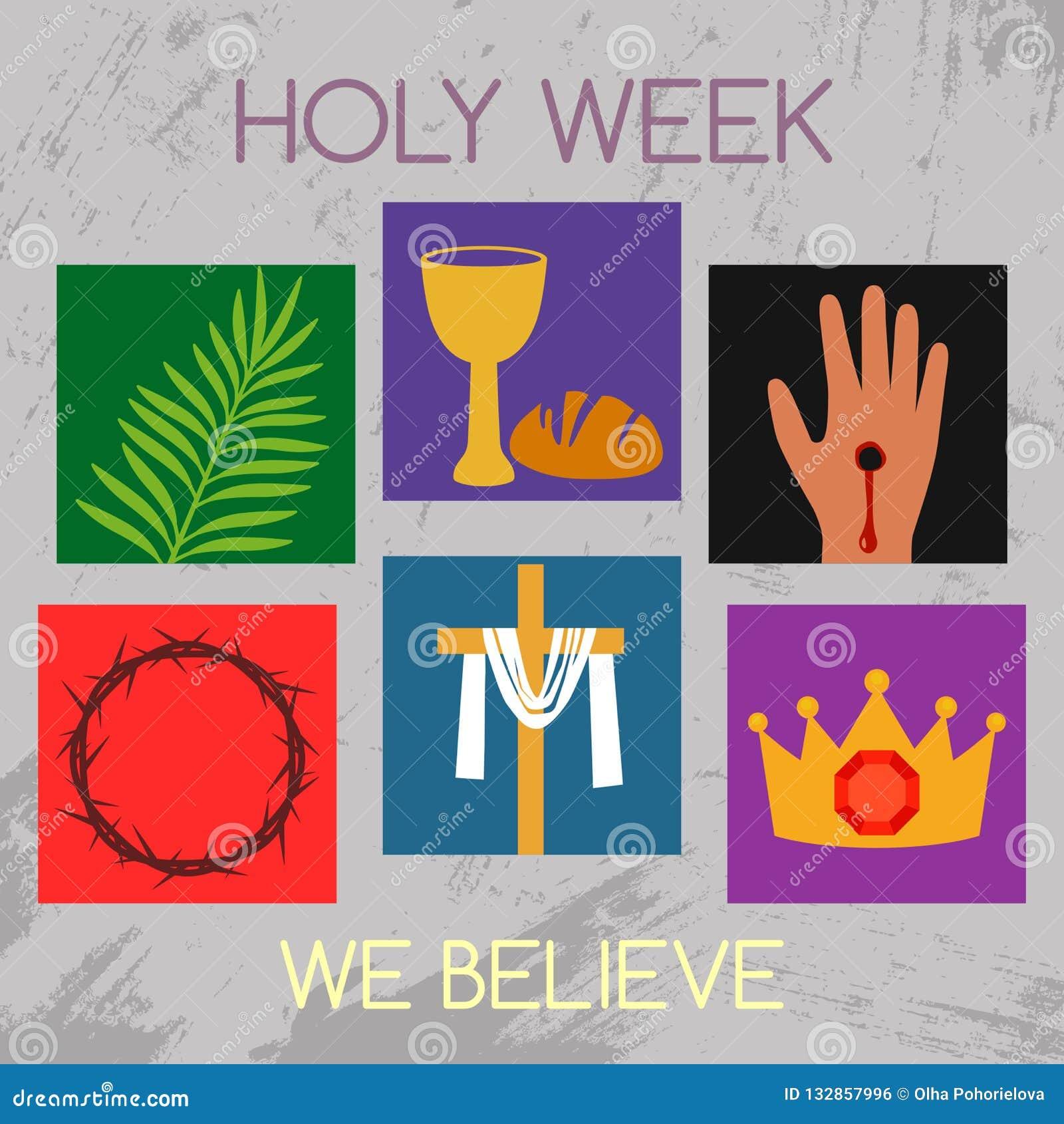 Verwonderend Christelijke Banner Heilige Week Met Een Inzameling Van FL-56