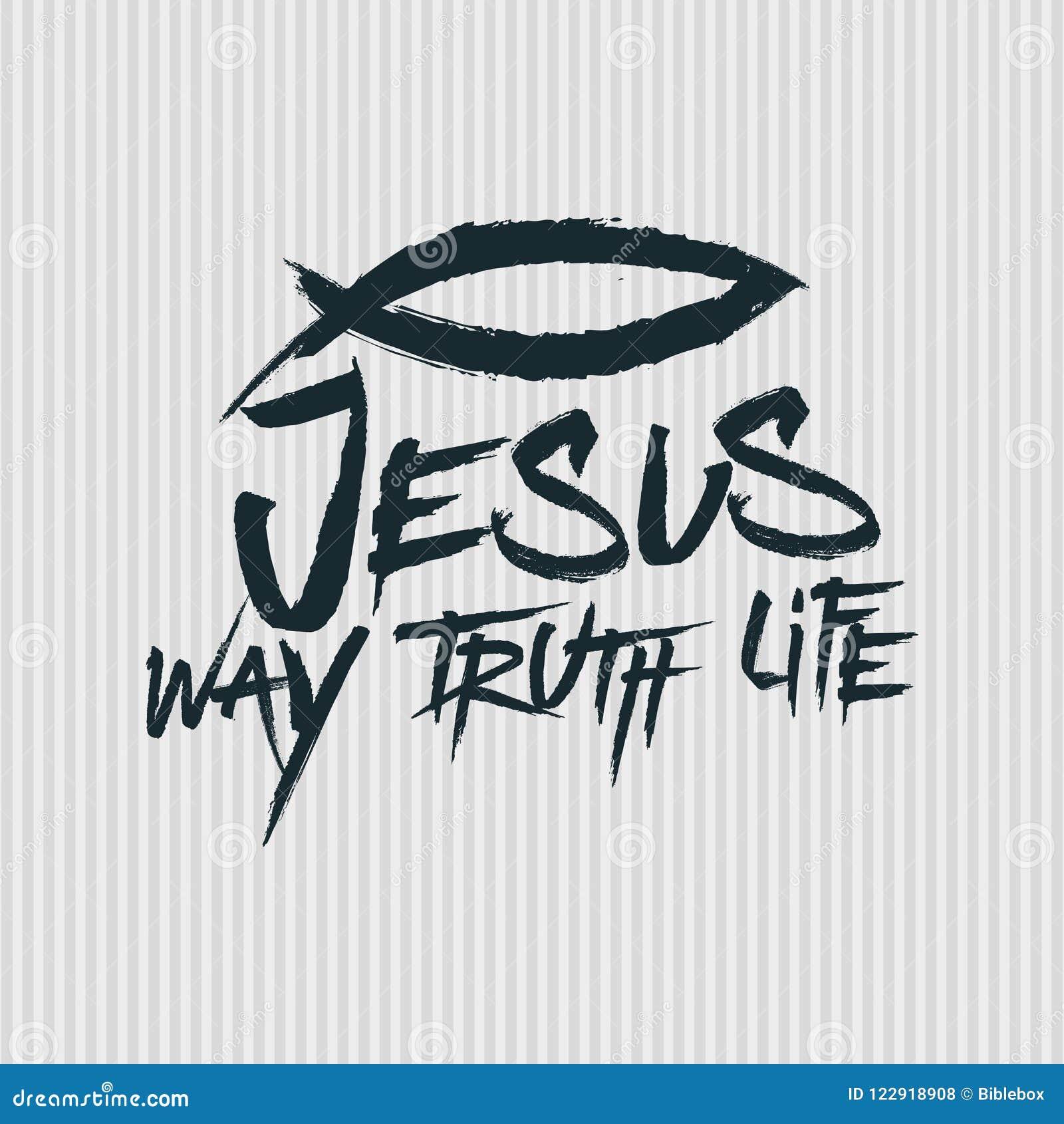 Christelijke druk Jesus - Manier waarheid life