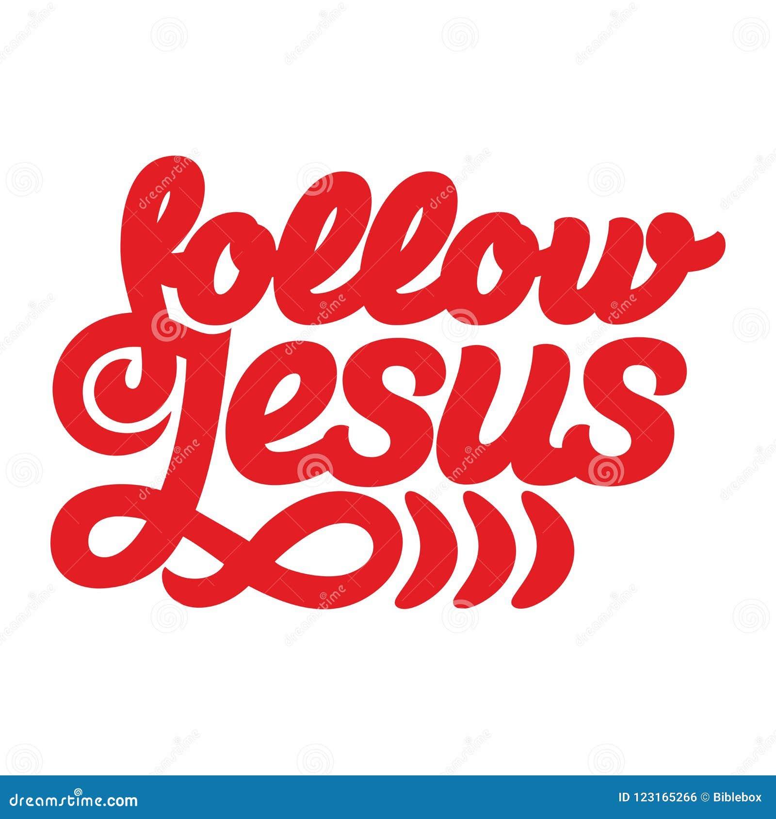Christelijke druk Volg Jesus