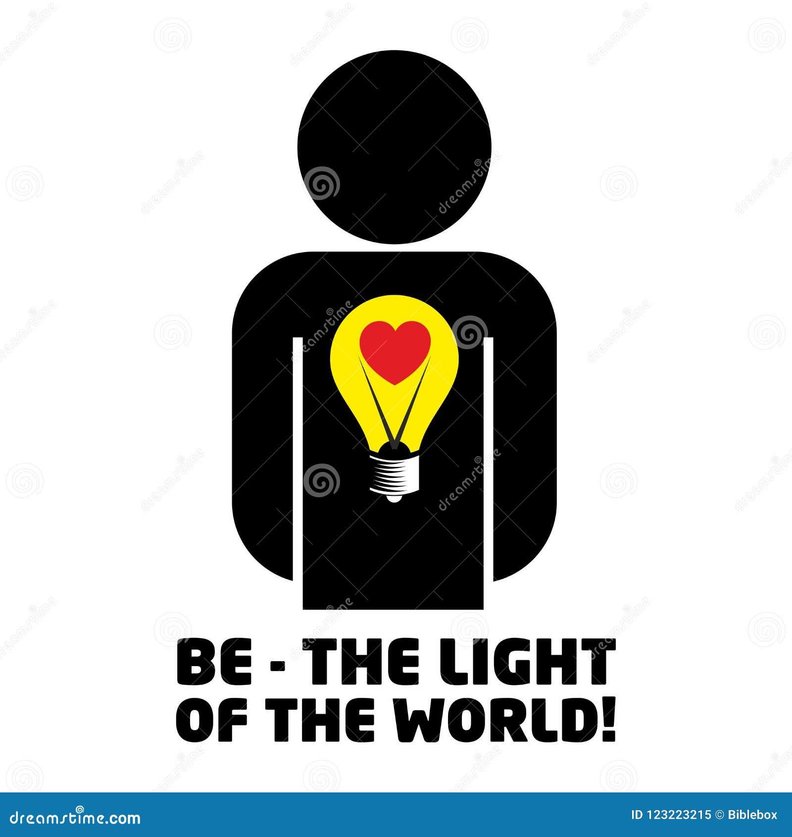 Christelijke illustratie Ben het licht van de wereld
