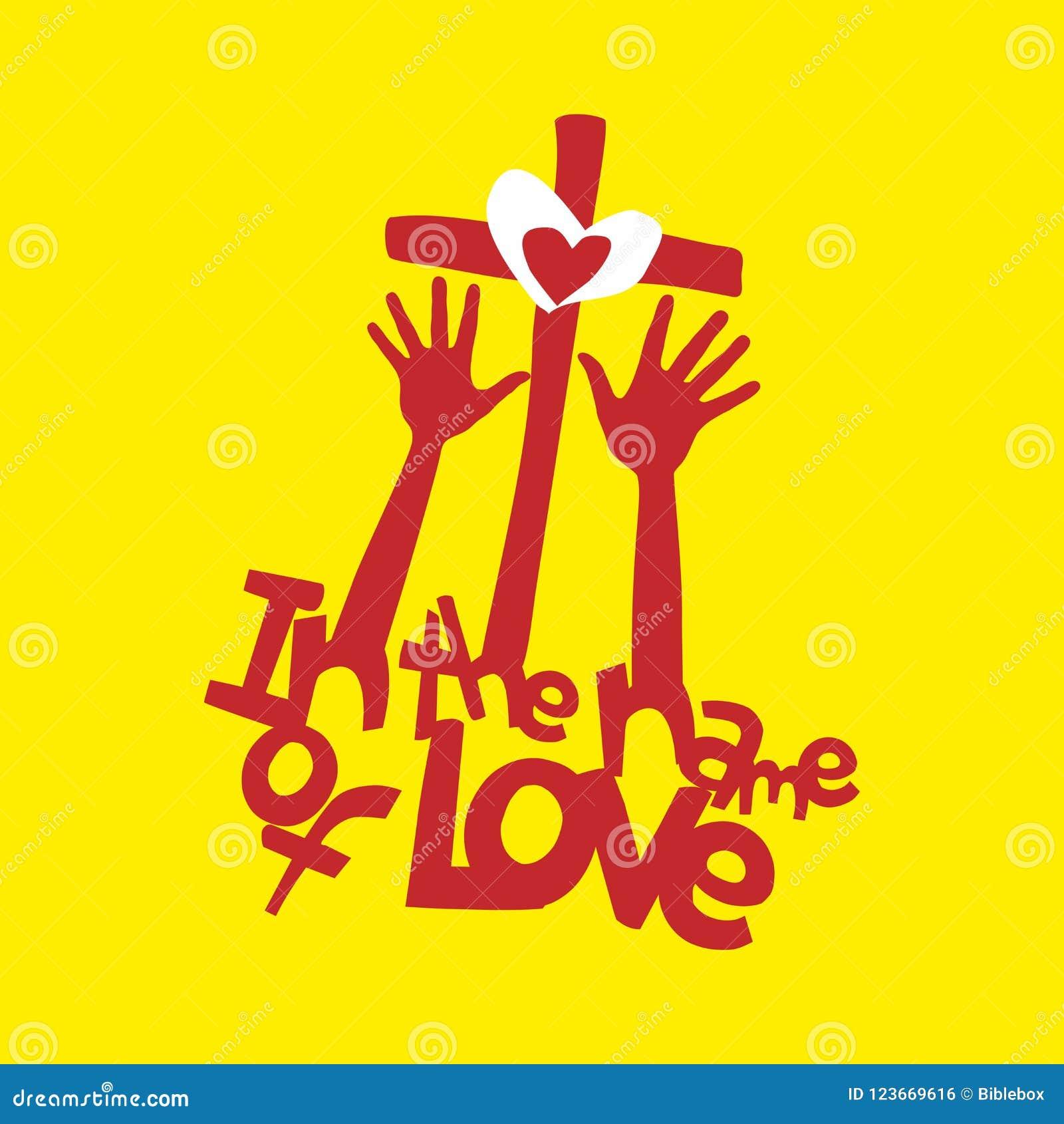 Christelijke illustratie In naam van Liefde