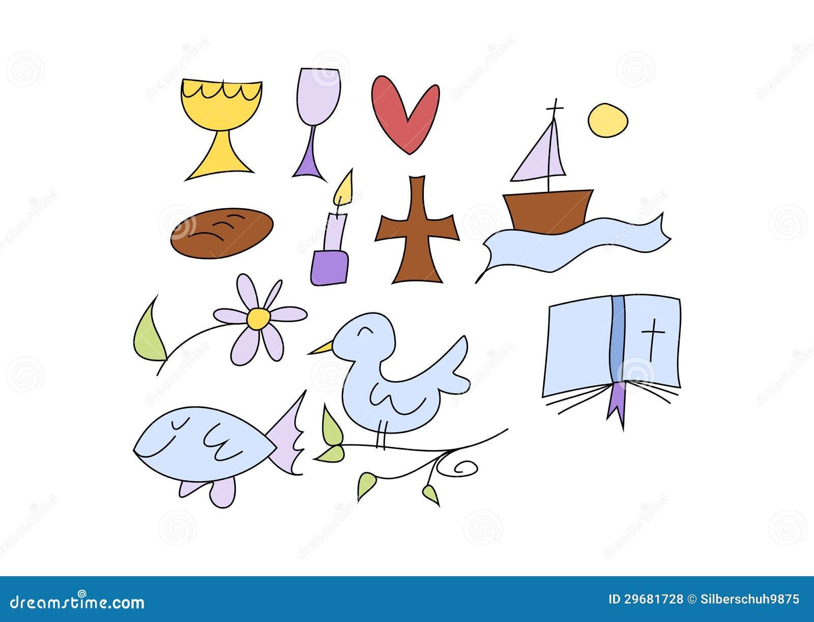 Christelijke symbolen voor jonge geitjes