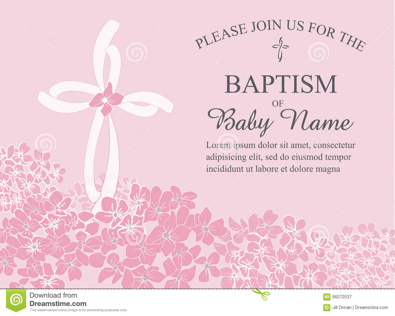 Christening Baptism Communion Or Confirmation Invitation Template