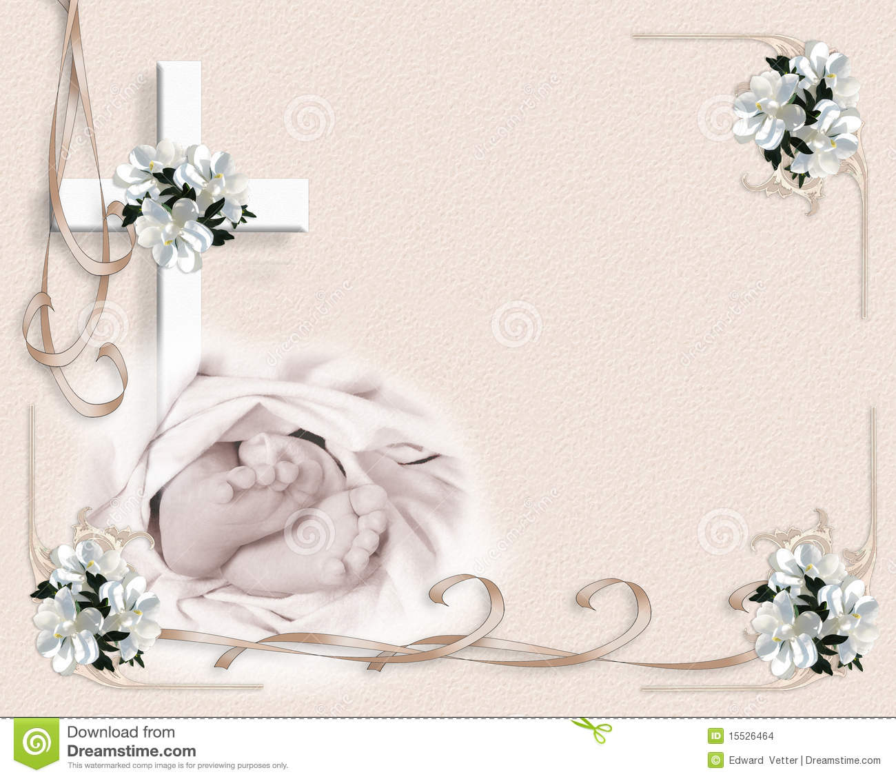 Christening Baptism Invitation Stock Illustration Illustration Of
