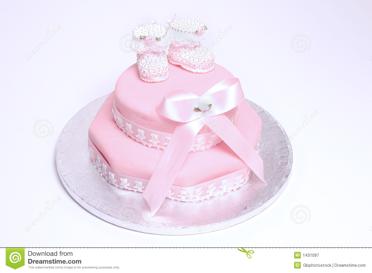 Royalty Free Stock Photography: Christening cake