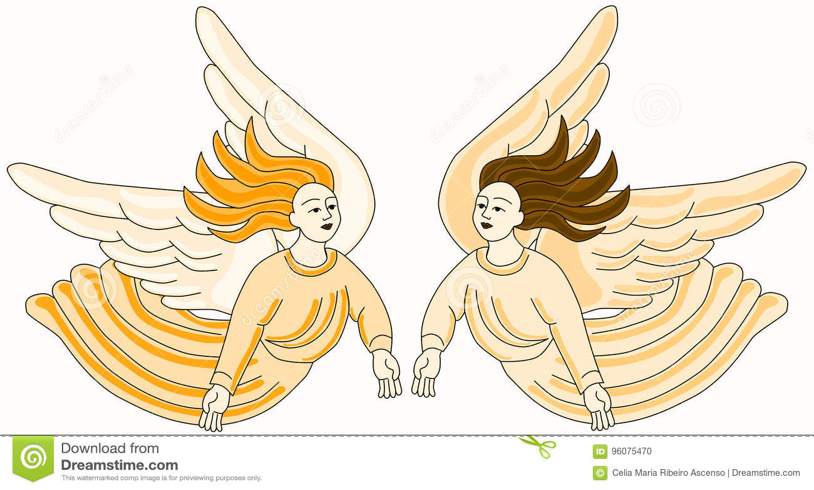 Christian Angels Flying