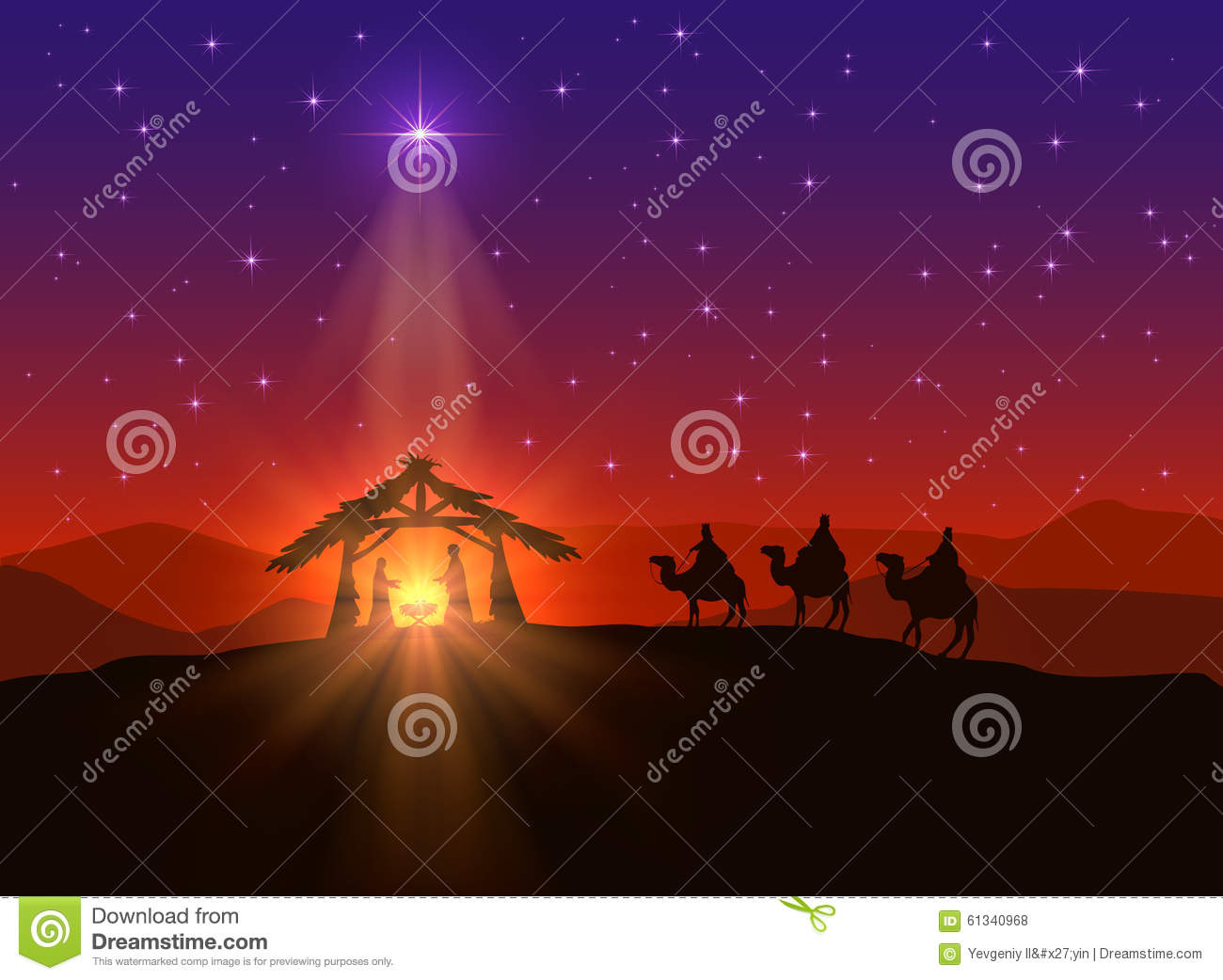 Christian Background With Christmas Star Stock Vector ...