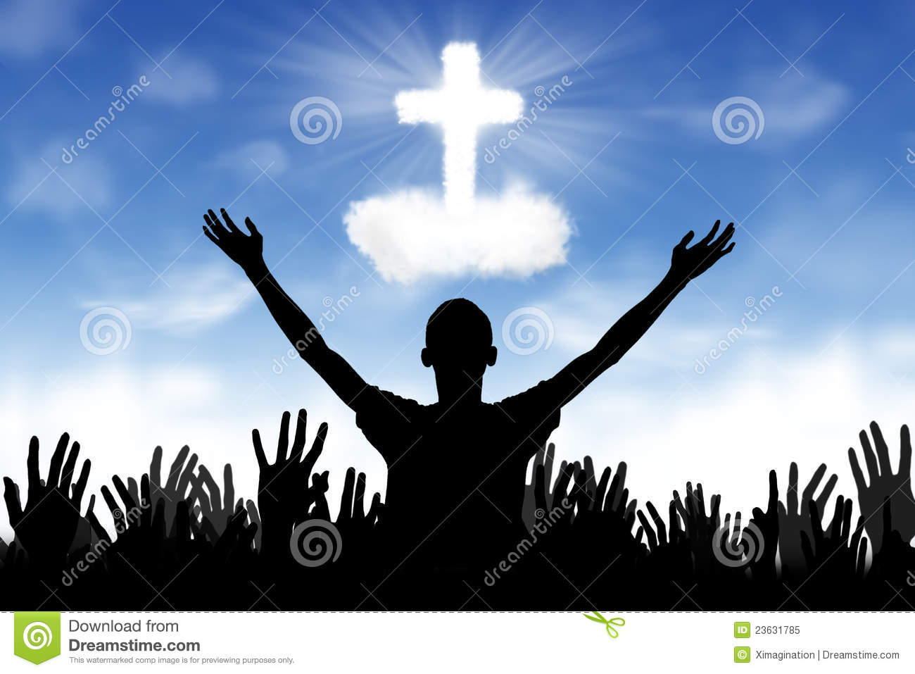Christian Background: Worshipers Royalty Free Stock Photo - Image ...
