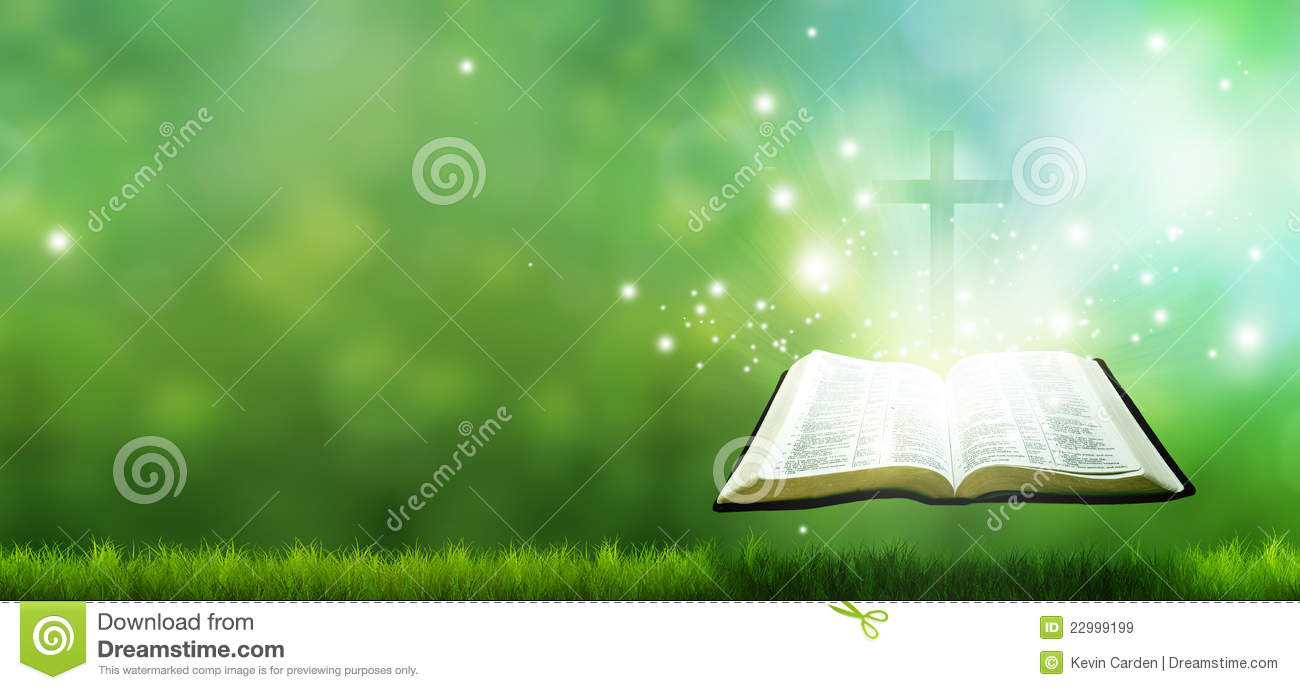 Christian Banner With Bible And Cross Stock Illustration Illustration Of Christian Field 22999199