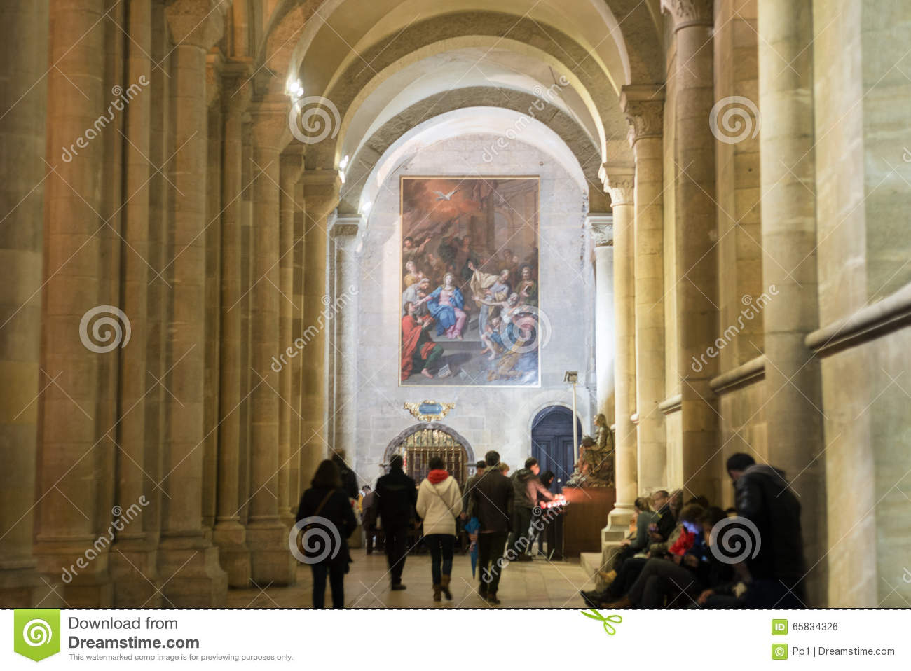 Majestic Medieval Cathedral Interior View Royalty-Free ...