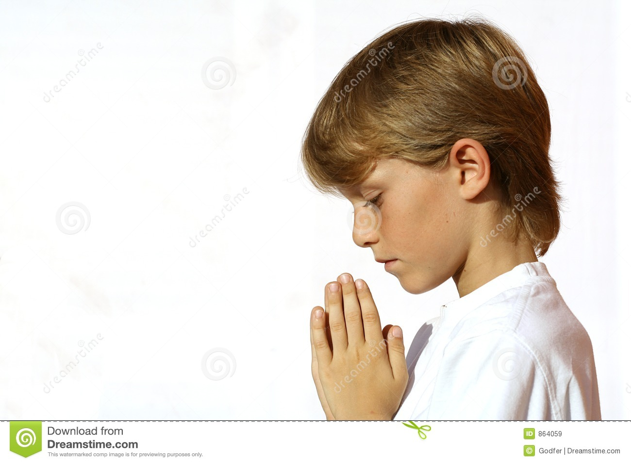 Christian Child praying stock image. Image of innocence ...