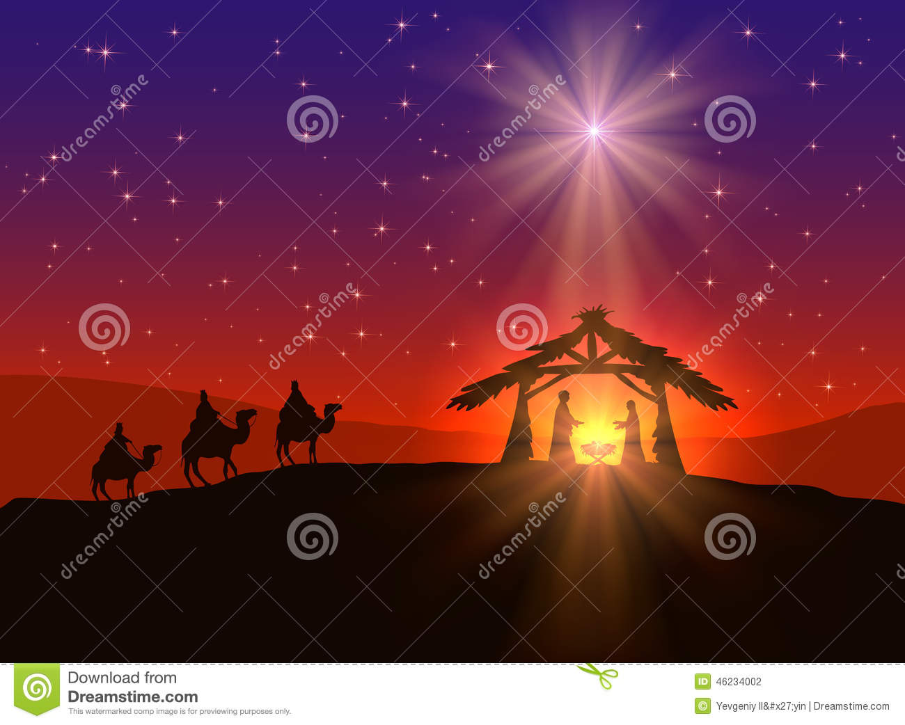 christian christmas background with star stock vector illustration