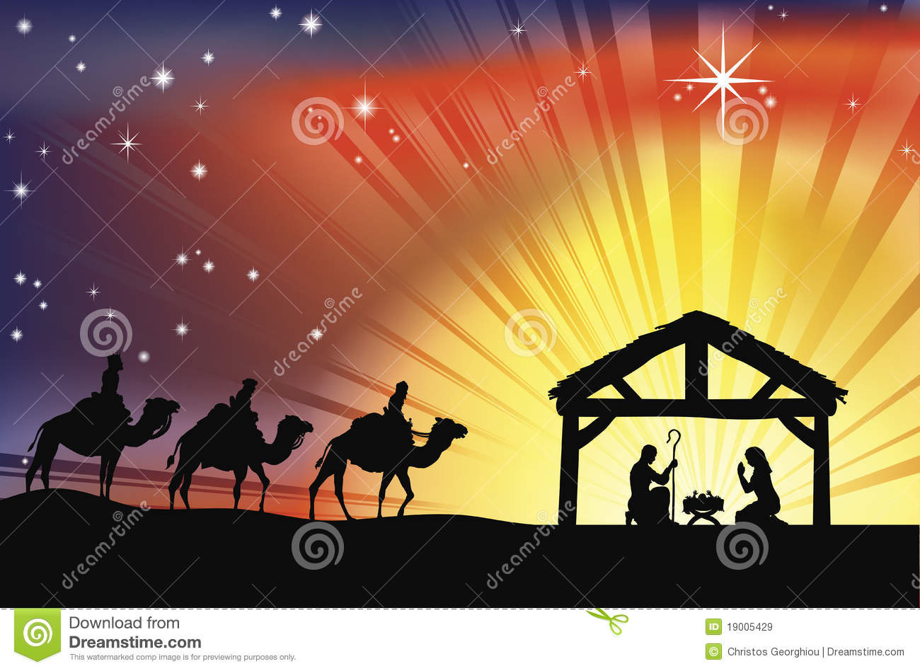 Christian Christmas Nativity Scene Royalty Free Stock Images - Image ...