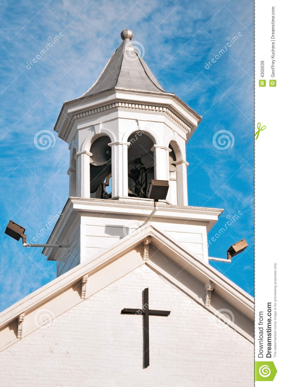 Christian Church Bell Tower Stock Image Image 4300539