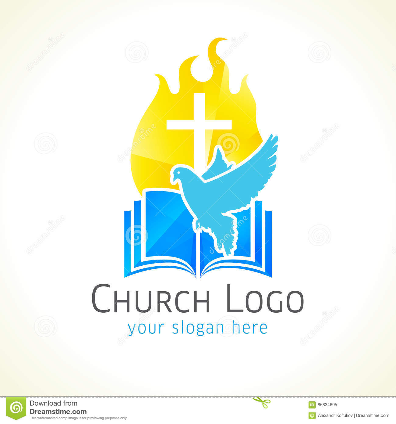 Christian church vector logo stock vector illustration of easter christian church vector logo altavistaventures Images
