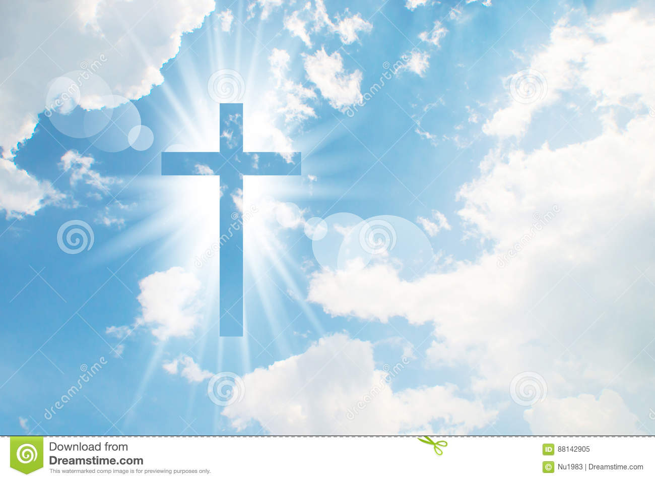 Download Christian Cross Appears Bright In The Sky Stock Image - Image of cross, silhouette: 88142905