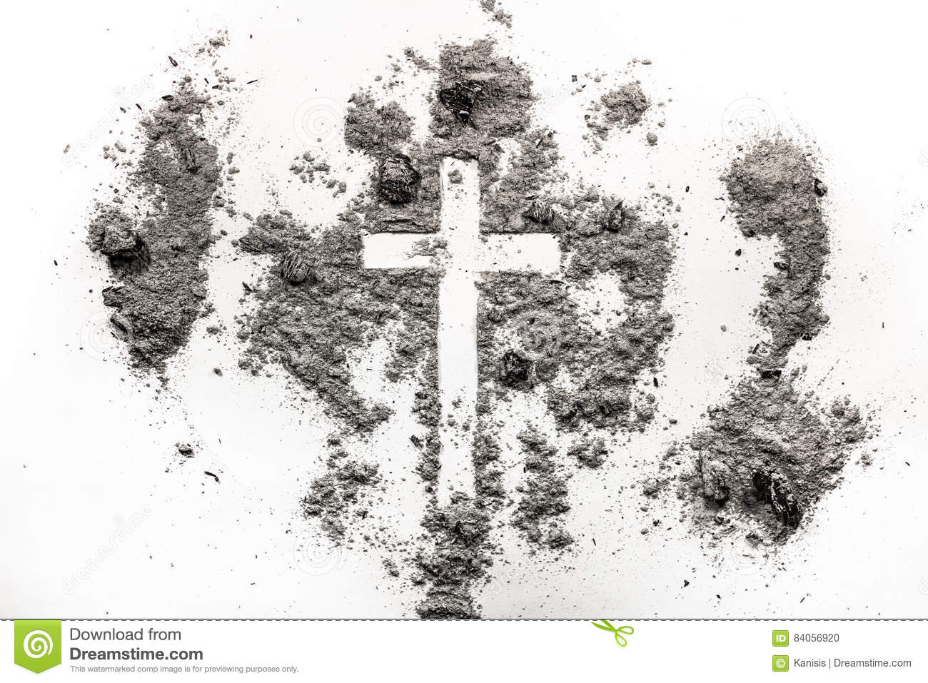 Christian cross crucifix symbol in ash dust ash wednesday con christian cross crucifix symbol in ash dust ash wednesday con buycottarizona Image collections