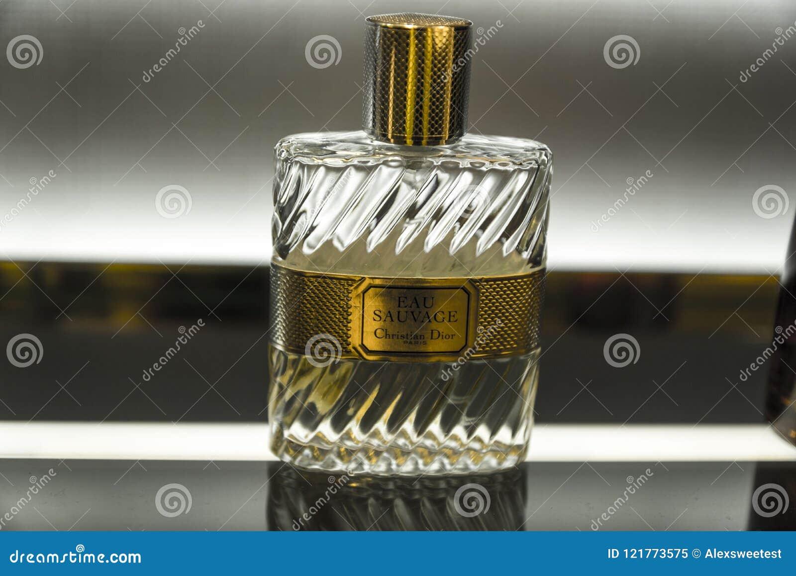 Christian Dior Eau Sauvage Perfume Editorial Image - Image