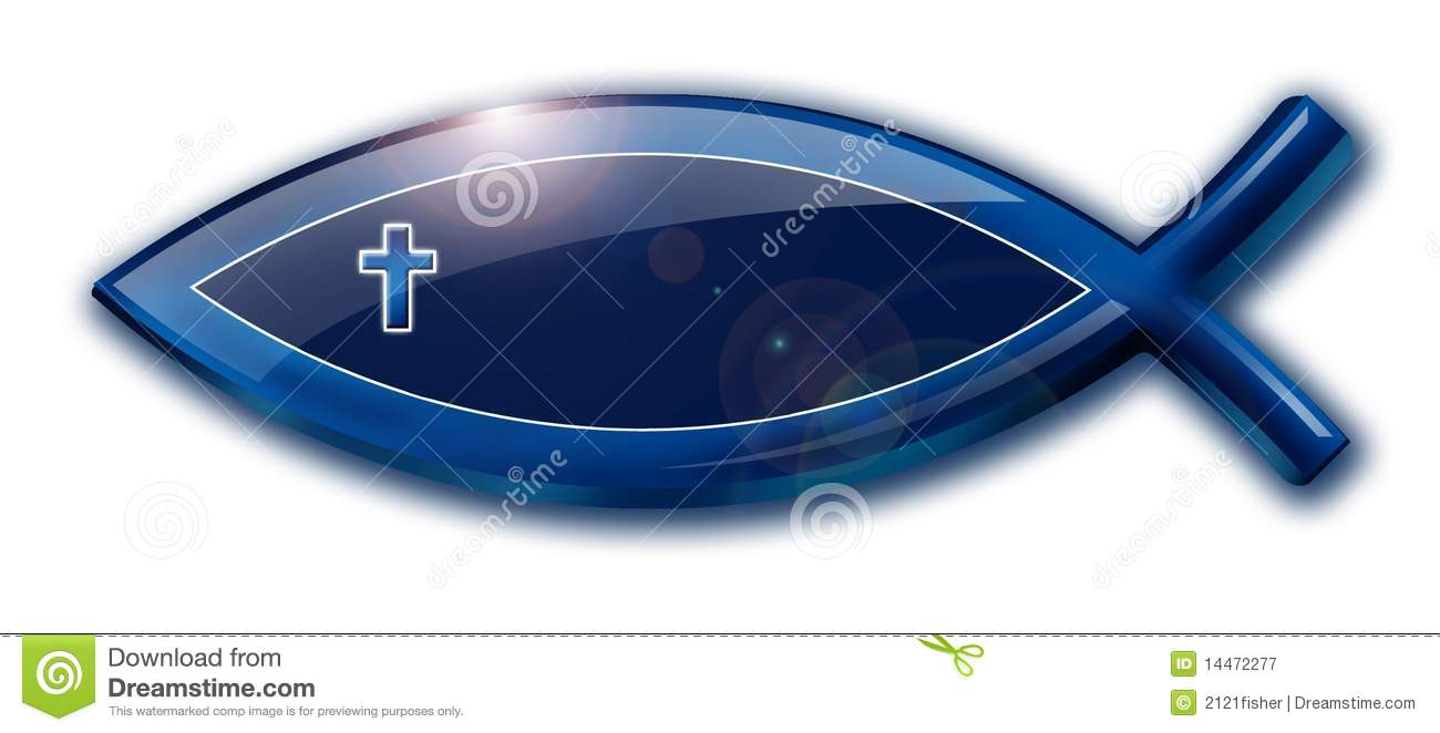 Christian Fish With Cross Royalty Free Stock Photography - Image ...