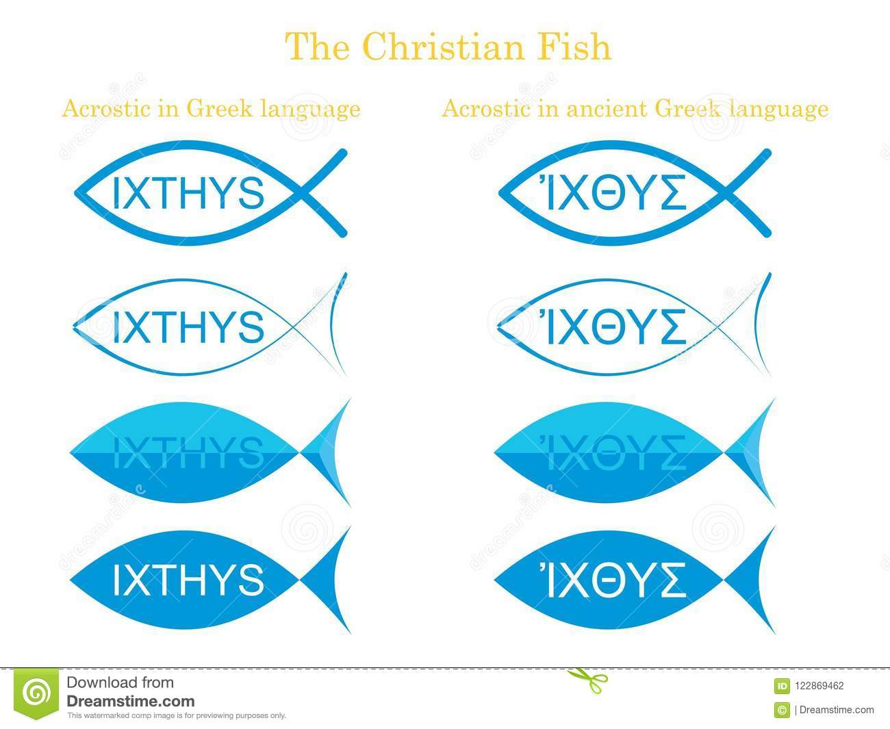 The Christian Fish Christian Symbol Stock Vector Illustration Of