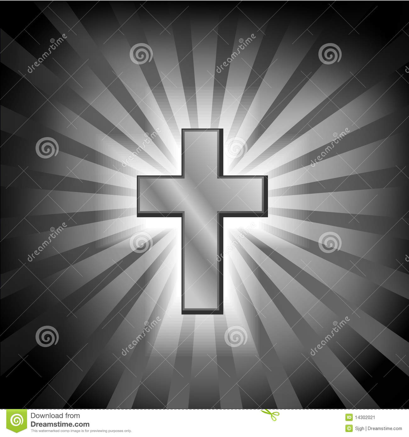 christian golden cross with light stock vector image