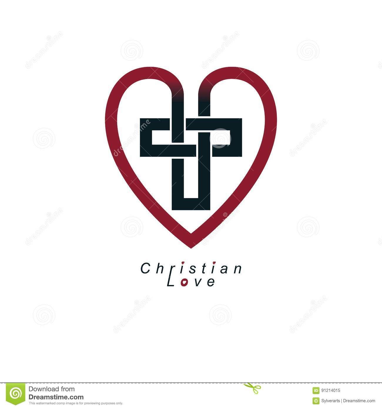 Christian love symbol stock vector illustration of calvary 30448883 christian love and true belief in god vector creative symbol des royalty free stock photo biocorpaavc