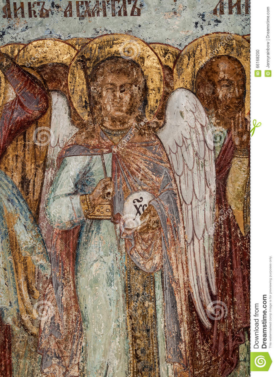 Christian mural painting stock photo image 66168200 for Christian mural paintings