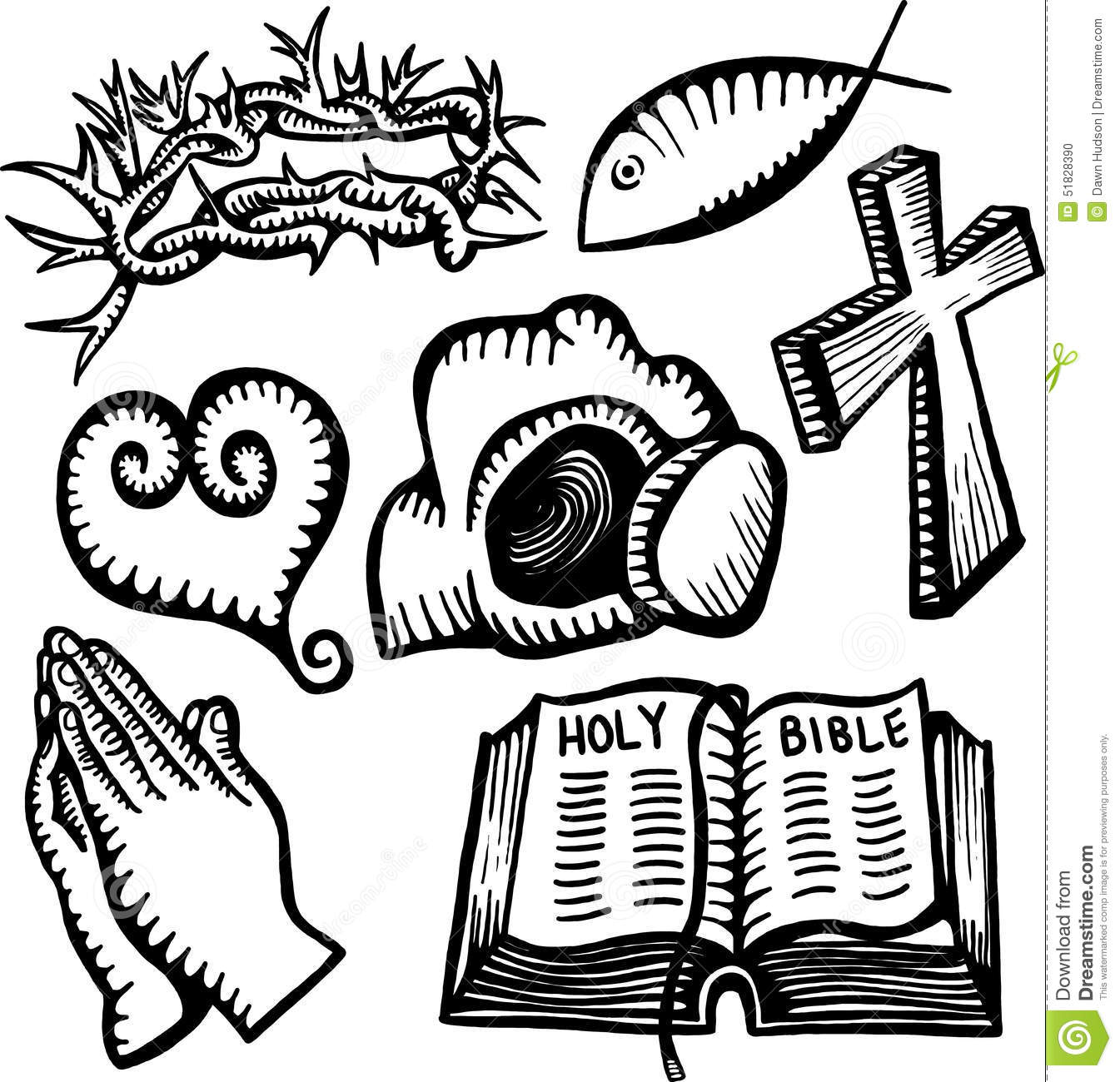 Christian Objects Stock Illustration