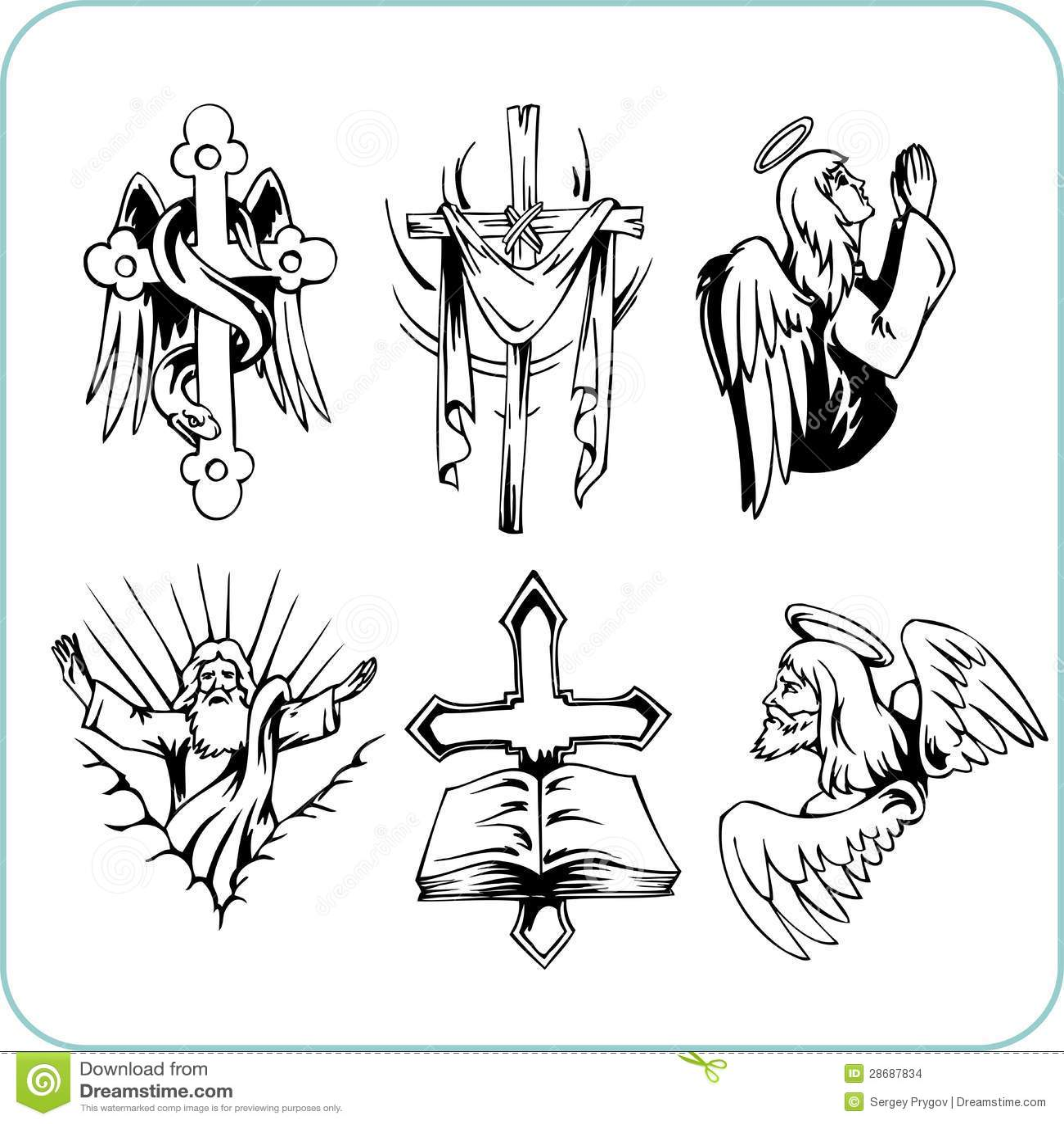 Christian Religion Vector Illustration Stock Vector