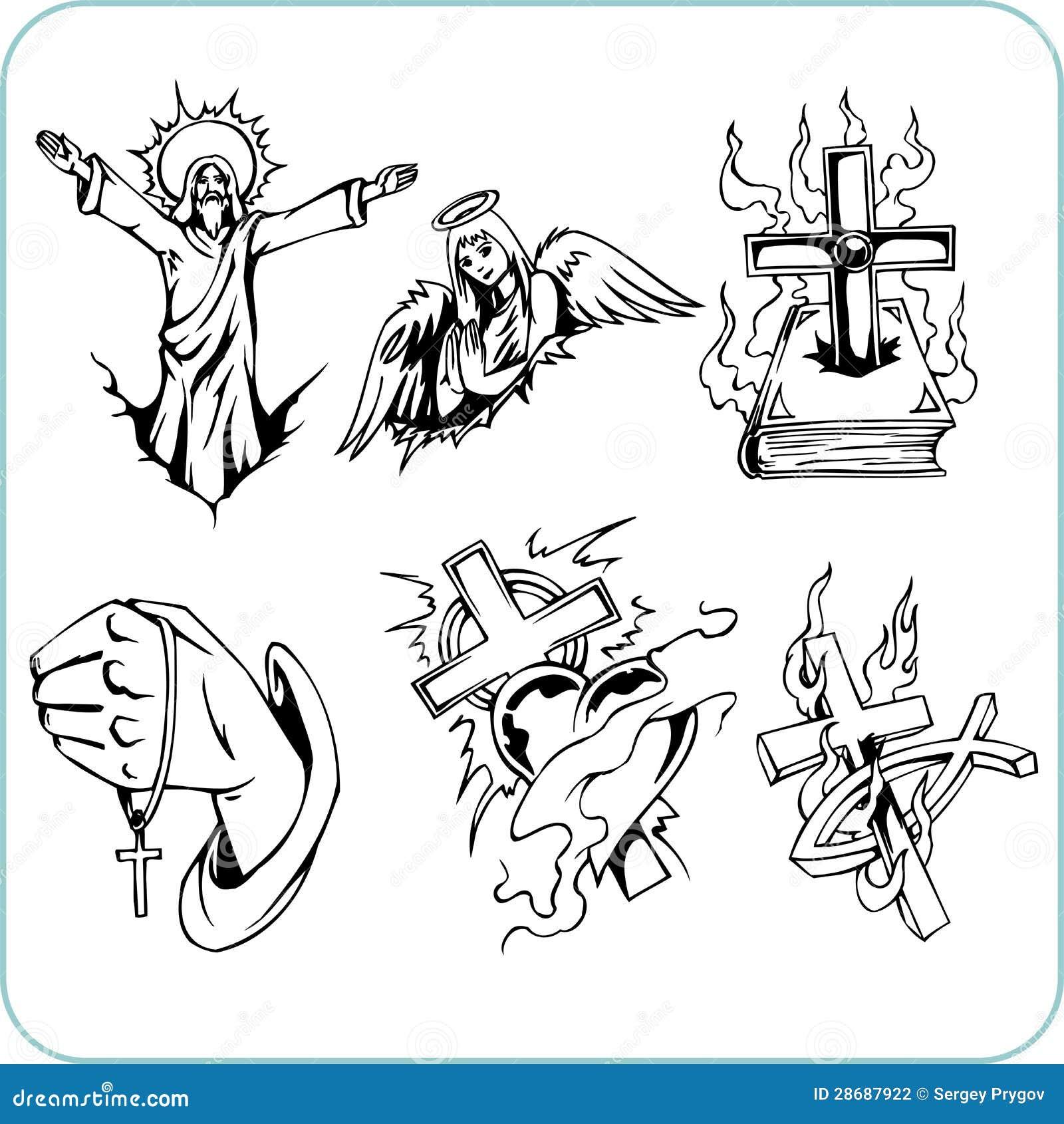Christian Religion Vector Illustration Stock