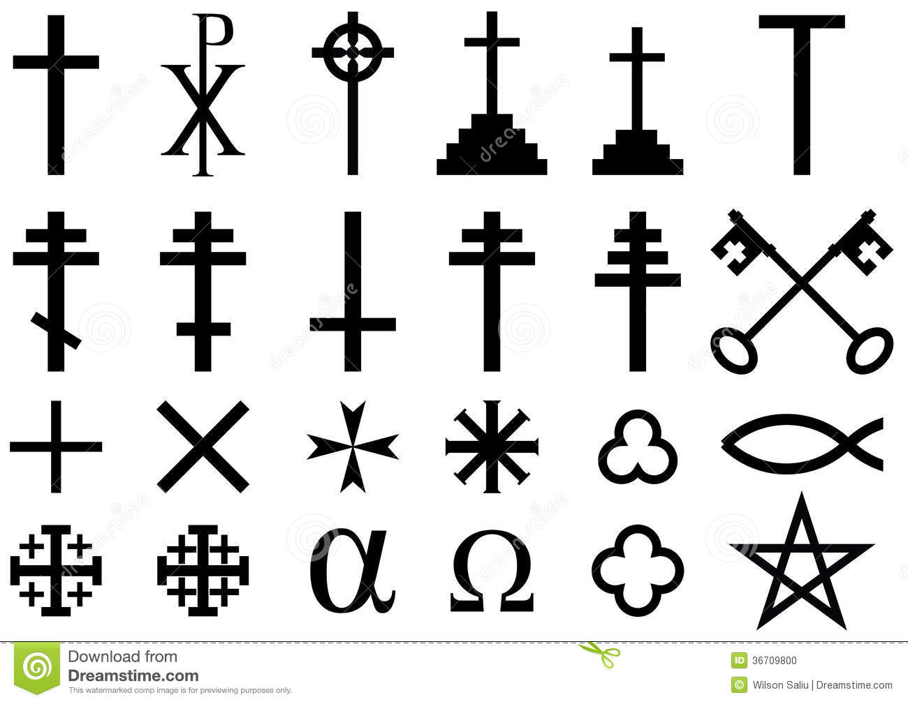 Christian Religious Symbols Stock Illustration Illustration Of